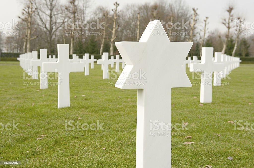 Unknown soldier Jewish gravestone Netherlands royalty-free stock photo