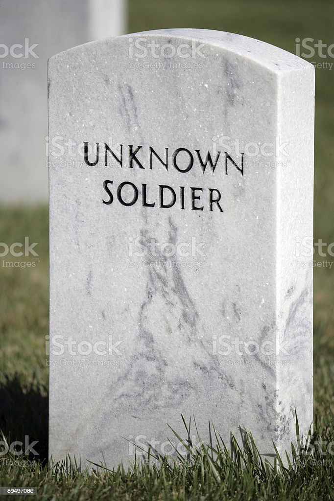 Unknown Soldier royalty free stockfoto