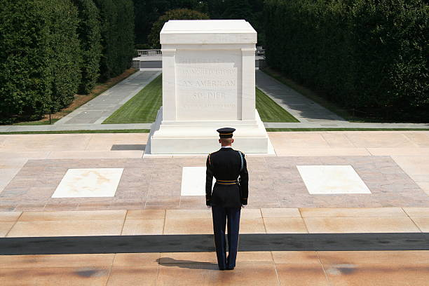 unknown soldier - arlington national cemetery stock pictures, royalty-free photos & images