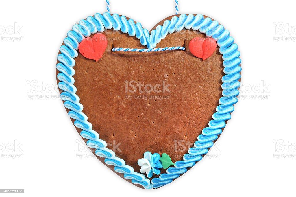 unlabeled Bavarian gingerbread heart stock photo