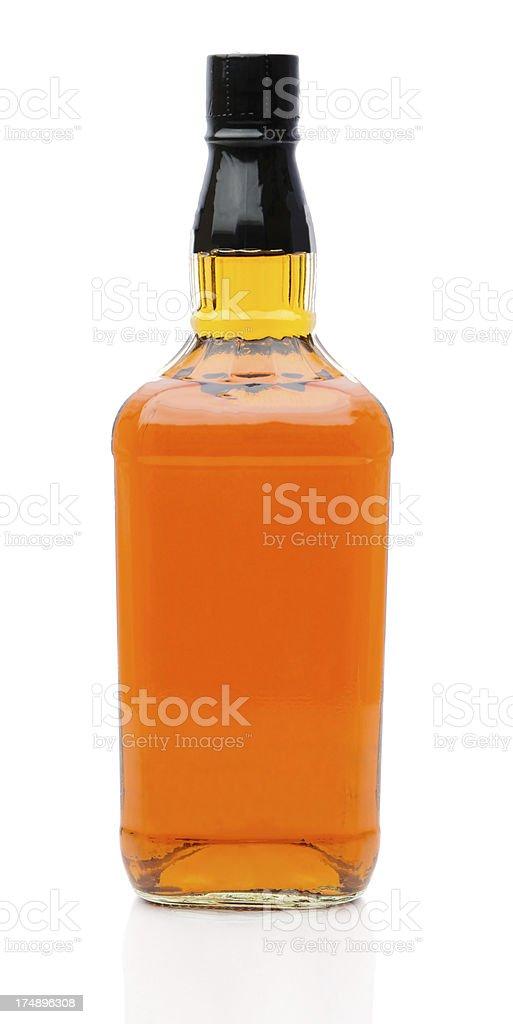 No marcado botella de whisky - foto de stock