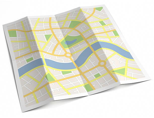 LABEL-LOSE Papier street Karte – Foto