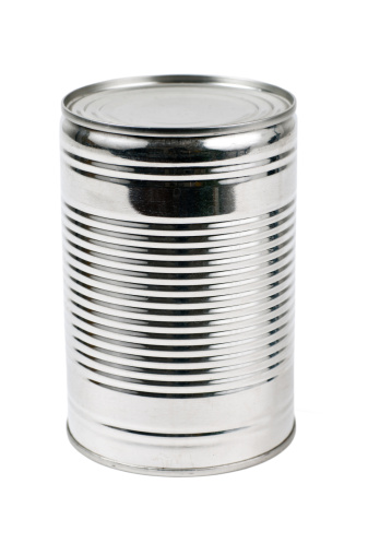 istock Unlabelled tin can on a white background 157681501