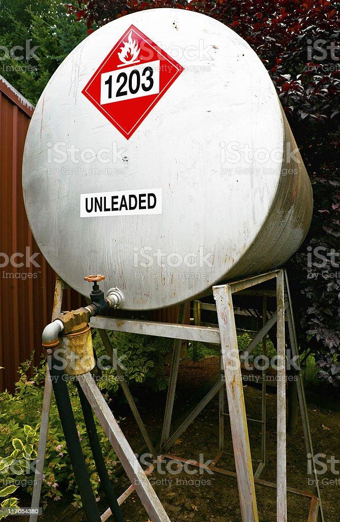 Unleaded Fuel Storage Tank royalty-free stock photo