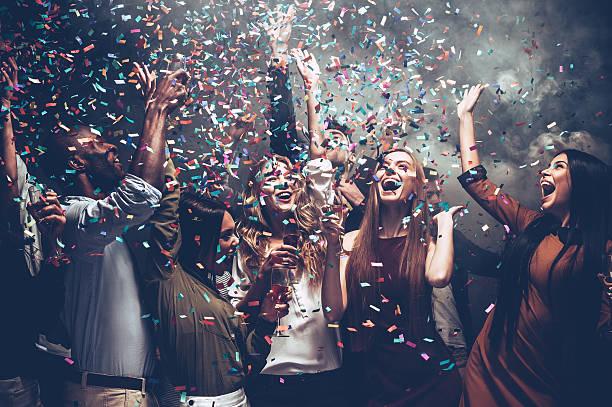 Unleashed fun. stock photo