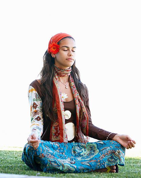 dass sich meine innere buddha - hippie stirnbänder stock-fotos und bilder