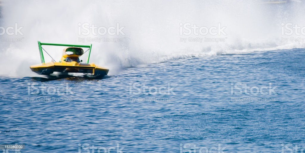 Unlimited Hydroplane Race royalty-free stock photo