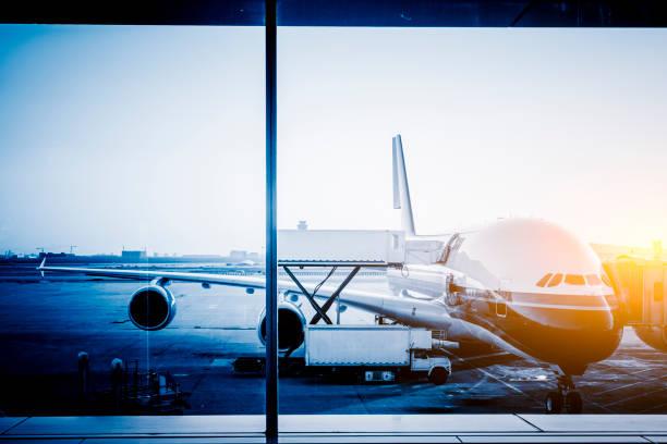 Entladen Flugzeug – Foto