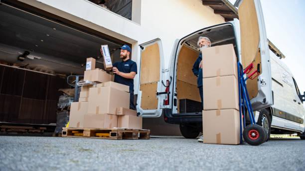 Unloading Cardboard Boxes