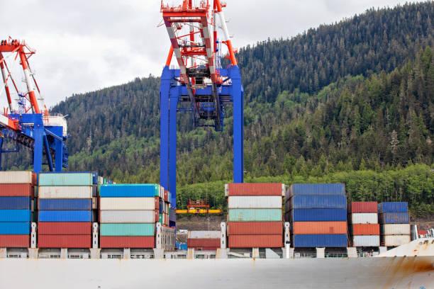 Unloading Cargo stock photo
