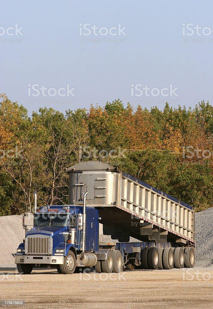Unloading Gravel Truck royalty-free stock photo