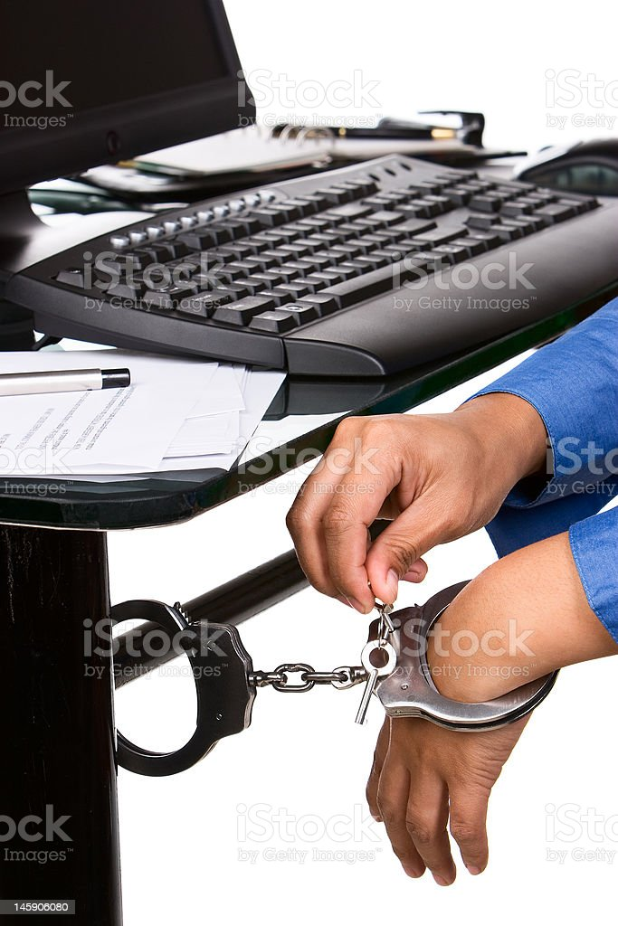 Unlock for the freedom in working royalty-free stock photo