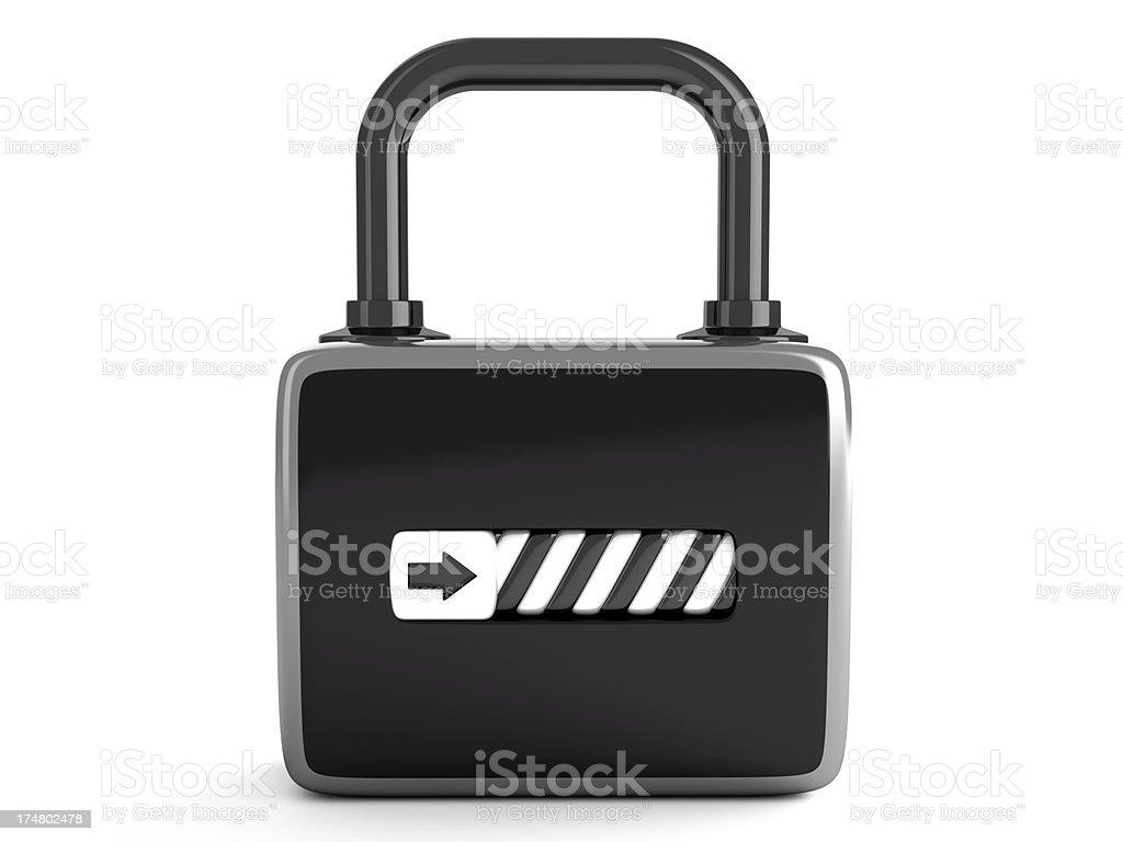 Unlocked lock royalty-free stock photo