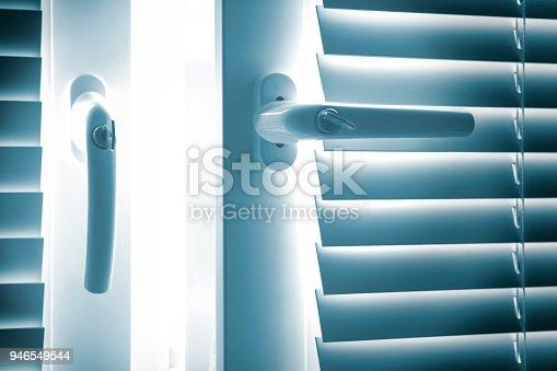 Unlocked open window inside house