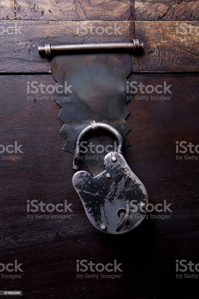 Unlocked Wooden Chest royalty-free stock photo