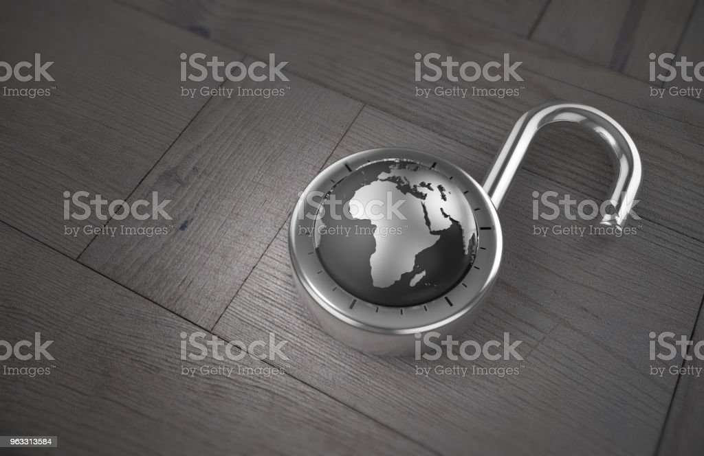 Unlocking Africa For Trade On A Wooden Table As 3d Rendering Stock