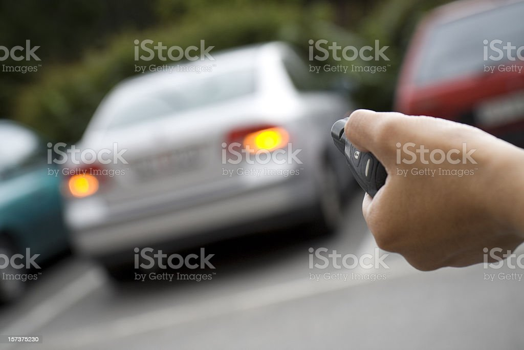 Unlocking car stock photo