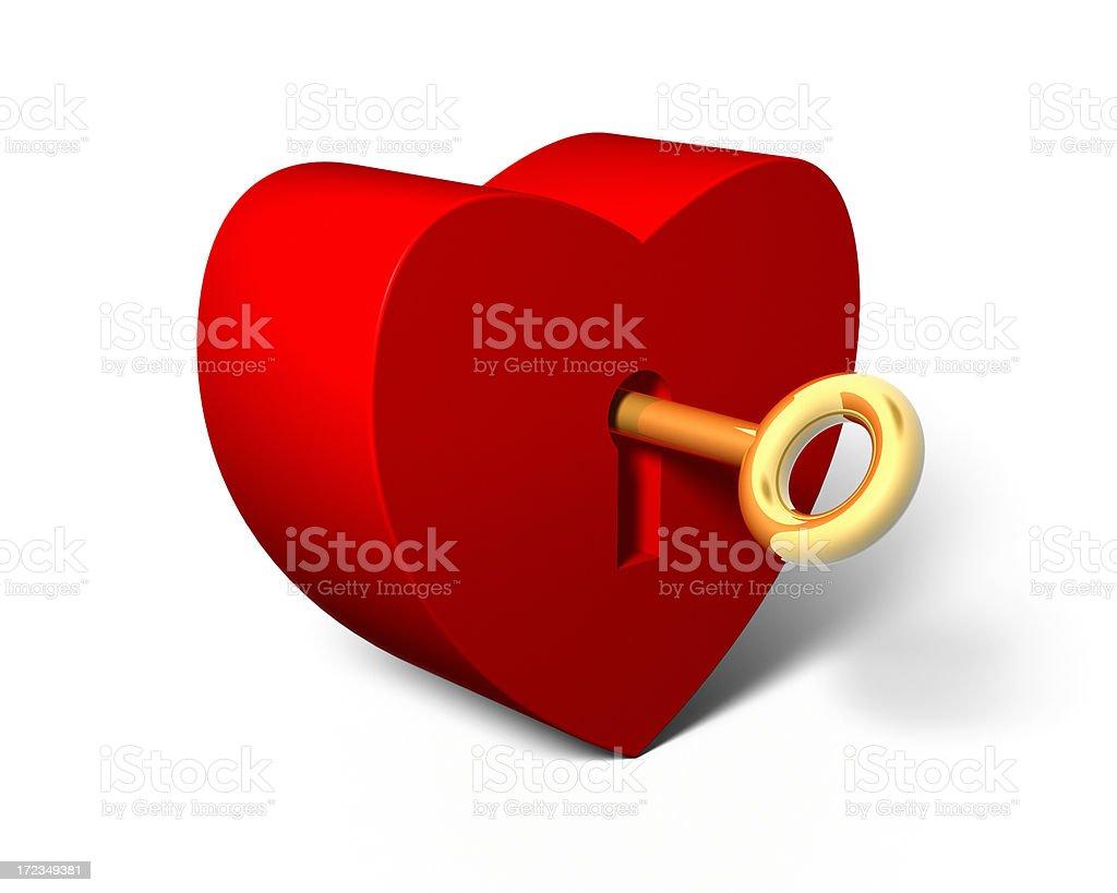 Unlocking Secrets of the Heart XL royalty-free stock photo