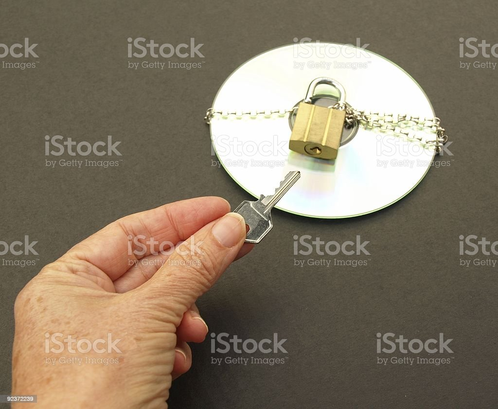 Unlocking the data royalty-free stock photo