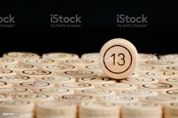 Unlucky number 13 on the wooden barrels lotto black background close picture id958408112?b=1&k=6&m=958408112&s=612x612&h=qxfcducso3apcpb3o0oyek8a0kxjiqucuxsix27xzbk=