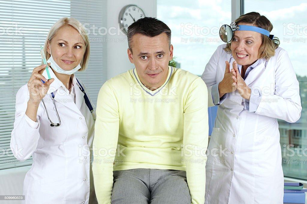 Unlucky patient stock photo