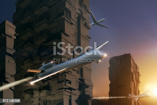 535194869 istock photo UAV Unmanned Aerial Vehicle (drone) attack city 512108398