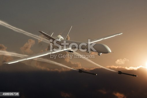 istock UAV Unmanned Aerial Vehicle (drone) attack 498699708