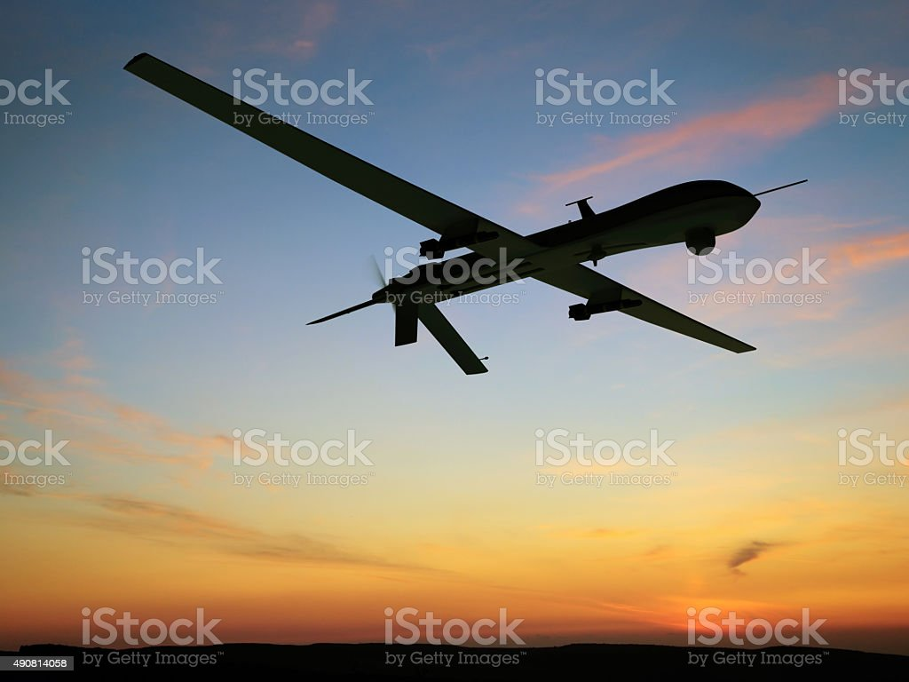 Unmanned Aerial Vehicle (UAV) stock photo