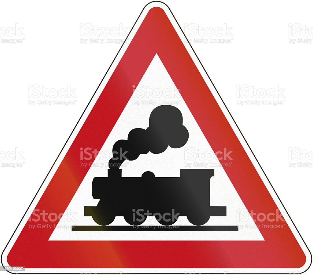 Unmanned Crossing 1970 stock photo