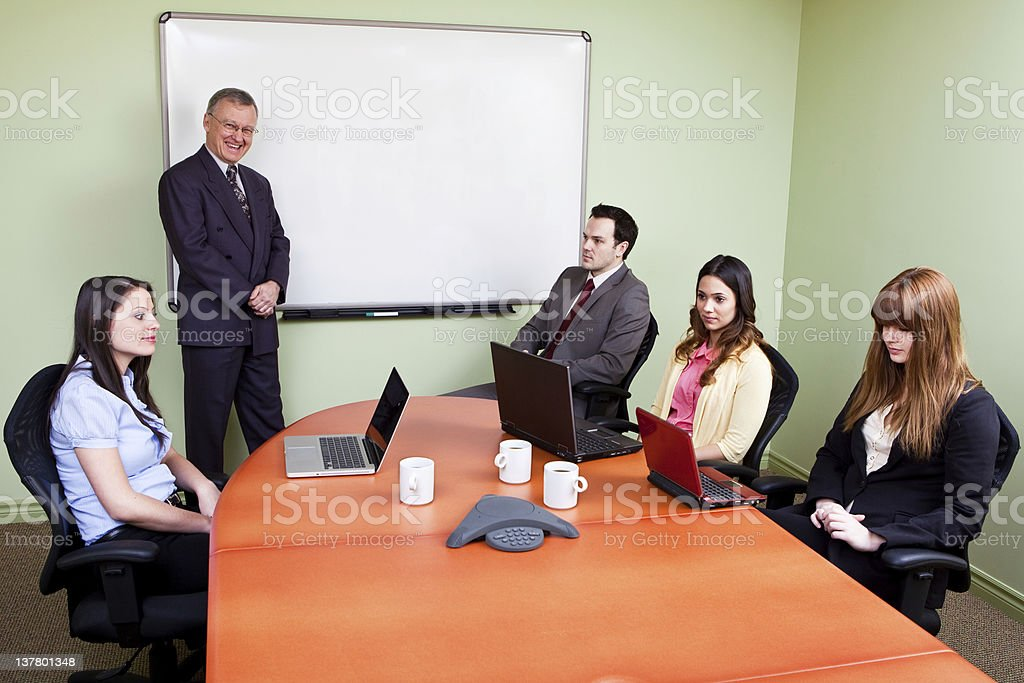 Unmotivated Staff stock photo