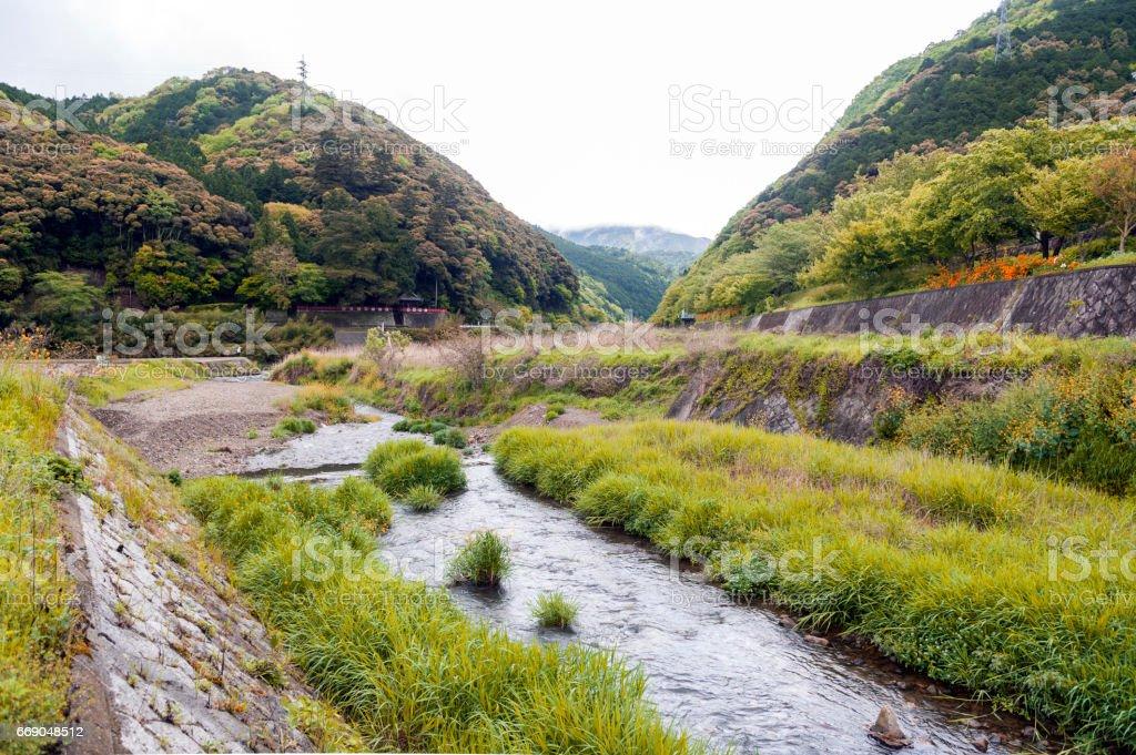 Uno River, Japan countryside in Kameoka stock photo