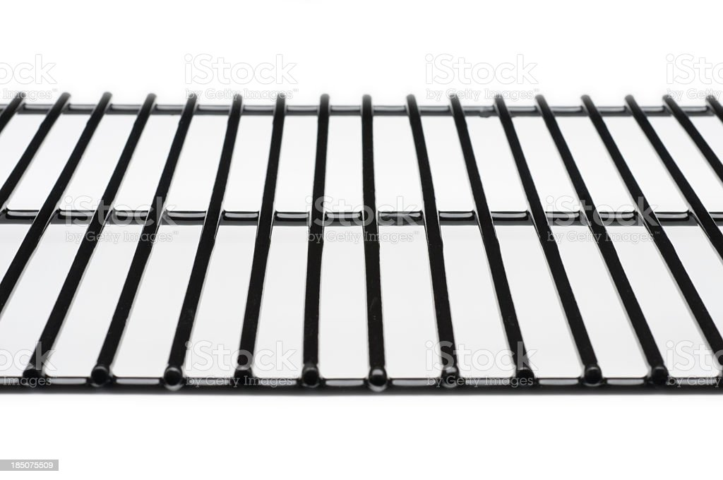 Unoccupied rack used for cooking an assortment of food stock photo