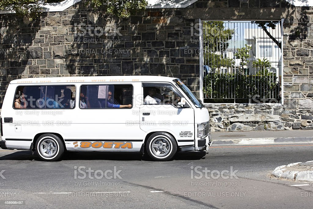 Unofficial public transport vehicle in Cape Town royalty-free stock photo