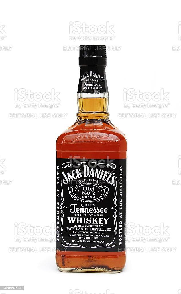 Unopened bottle of Jack Daniels Whiskey stock photo