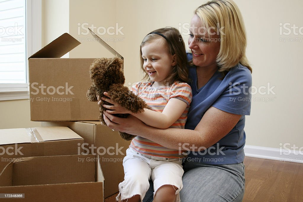 Unpacking royalty-free stock photo