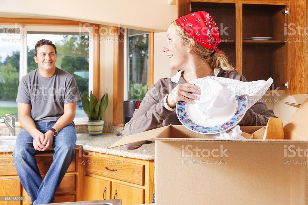 Unpacking the Kitchen royalty-free stock photo
