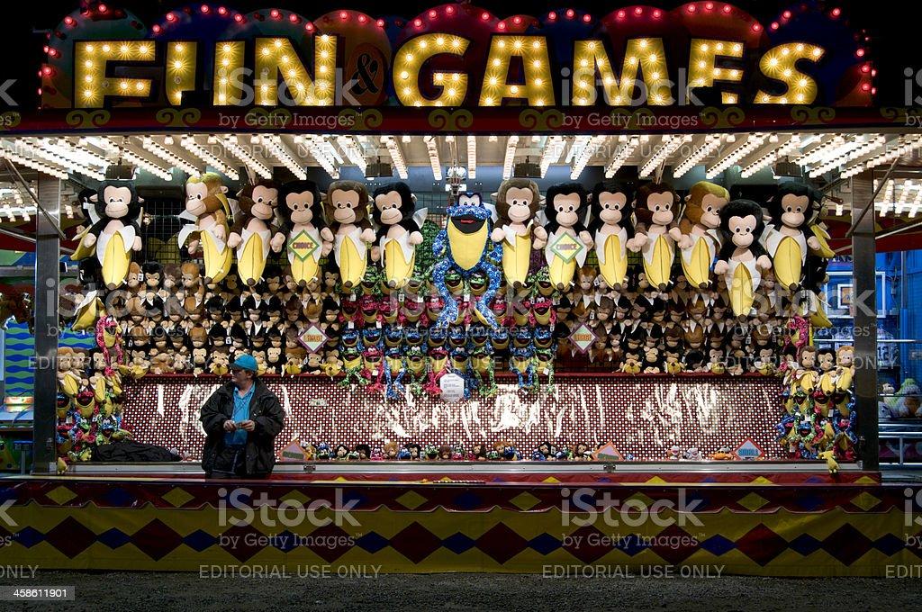 Unpatronized Carnival Game Booth stock photo