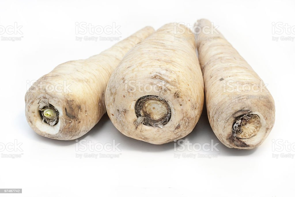Unpeeled parsnips royalty-free stock photo