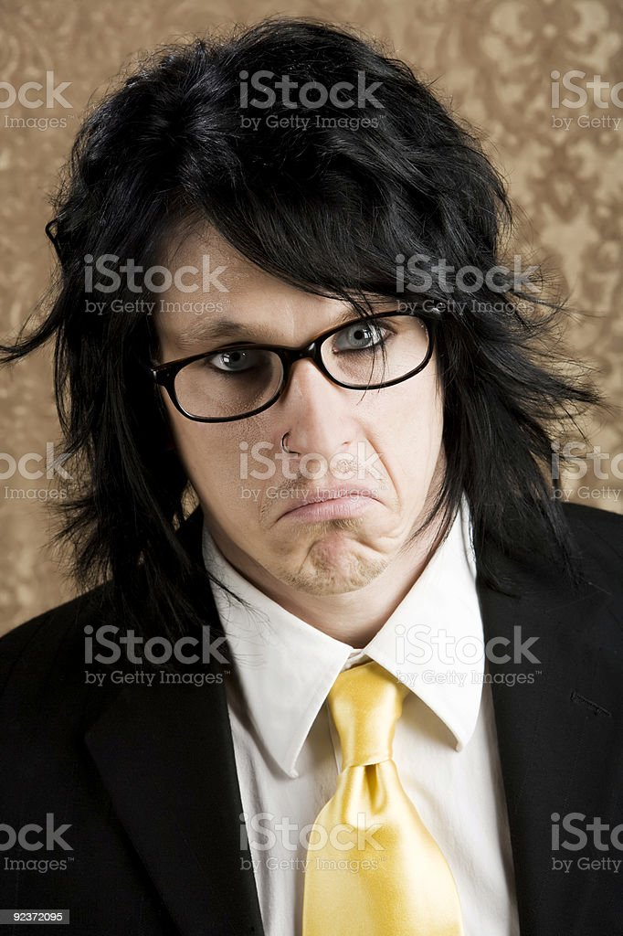 Unpleasant Young man royalty-free stock photo