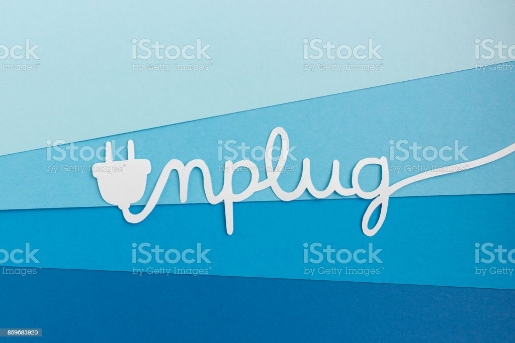 Unplug - take a break from work and enjoy life royalty-free stock photo