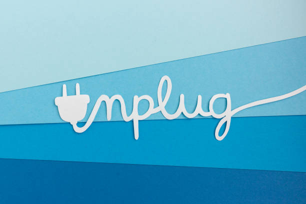 Unplug - take a break from work and enjoy life stock photo