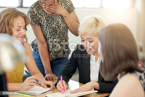 598064836 istock photo Unposed group of creative business people in an open concept 528502404
