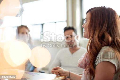 598064836 istock photo Unposed group of creative business people in an open concept 537618232