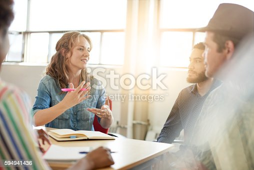 598064836 istock photo Unposed group of creative business people in an open concept 594941436