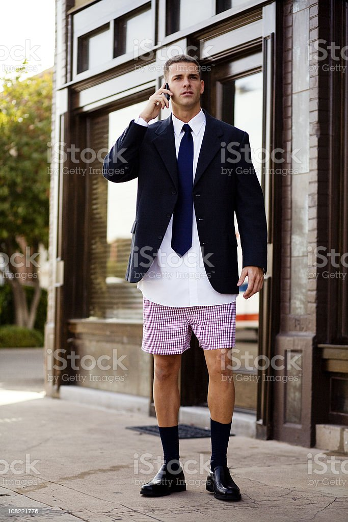 Unprepared Businessman stock photo