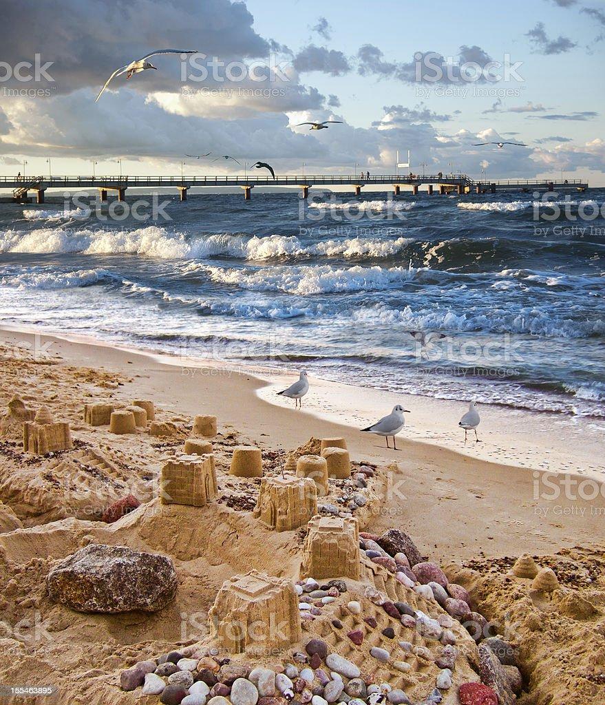 Unquiet Baltic Sea royalty-free stock photo