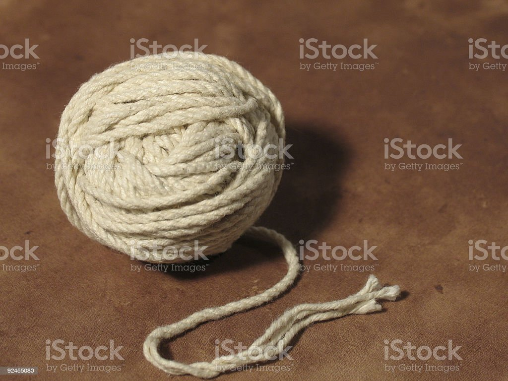 Unravelled stock photo