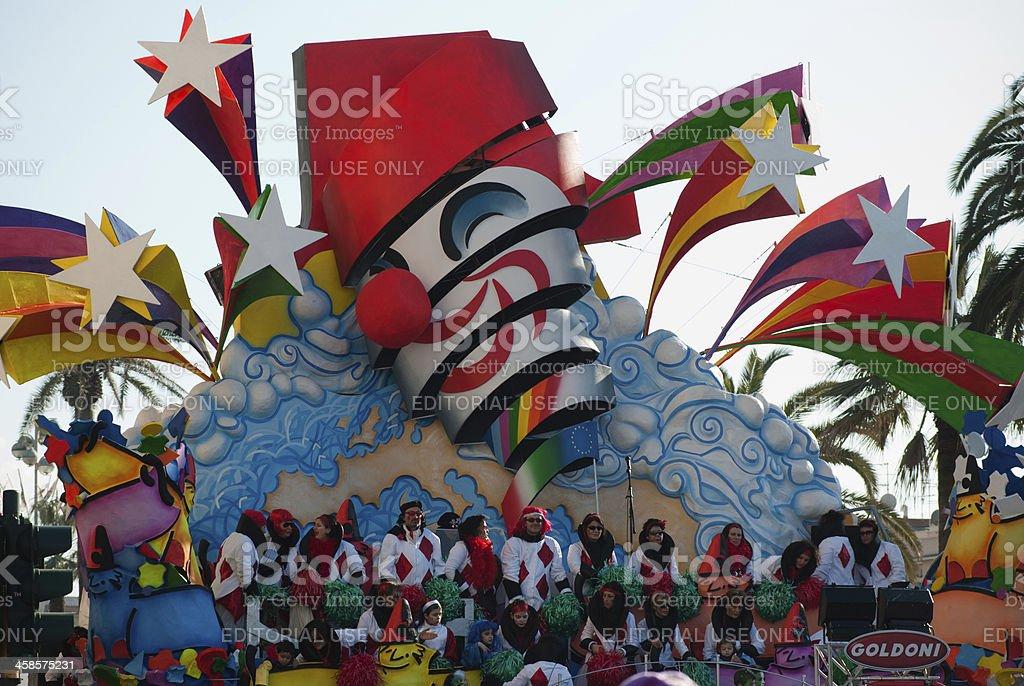 Unreal symbol Carnival of Viareggio 2010 stock photo