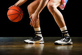 istock Unrecognizable basketball player dribbling. 170215209