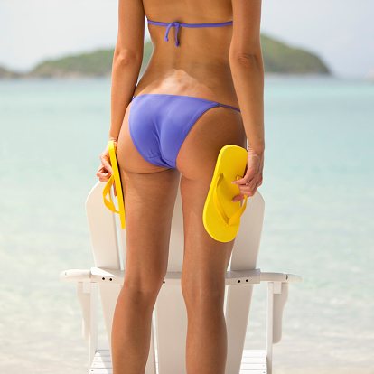 bikini flip flops